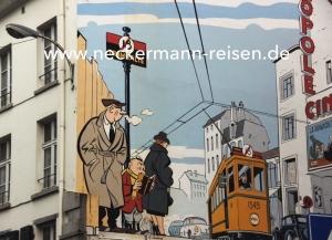Brüssel als Comicstrip