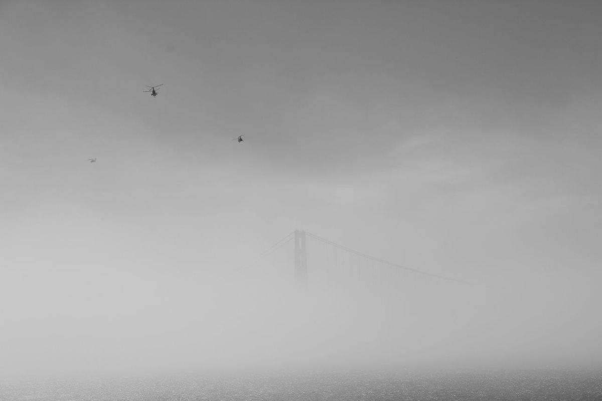 Golden Gate im Nebel IX