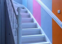 Treppenaufgang im Elternhaus Mondriaans