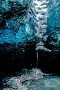 Mini-Wasserfall in der Eishöhle