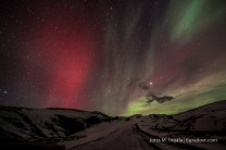 Polarlichter über dem Eyjafjallajökull