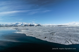 Eispanzer am Ufer