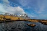 Skalatindar mit Vesturhorn im Hintergrund