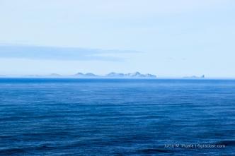 Die Westmänner-Inseln am Horizont