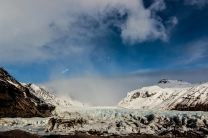 Gletscherzunge am Svinafellsjökull