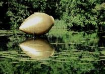 Reflektionen mit Kunst von James Lee Byars