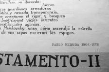 Mauergedicht von Pablo Neruda