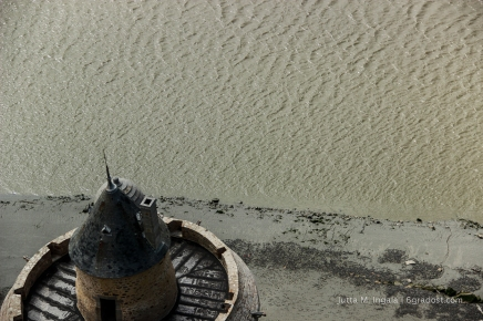 Blick aufs Watt am Mont Saint Michel