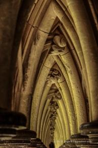 Imposanter Kreuzgang am Mont Saint Michel