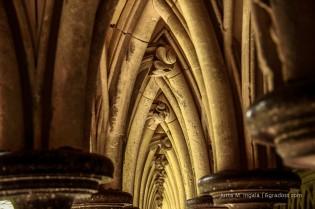 Kreuzgang im Kloster am Mont Saint Michel