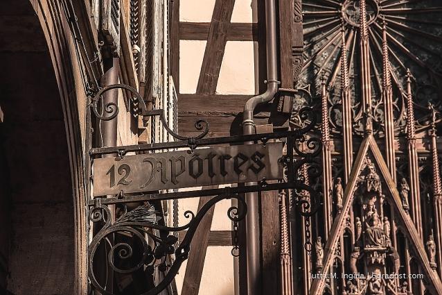 Straßenszene mit Blick auf das Münster