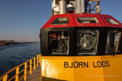 Ronni im Pilotboot