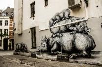 Streetart von ROA