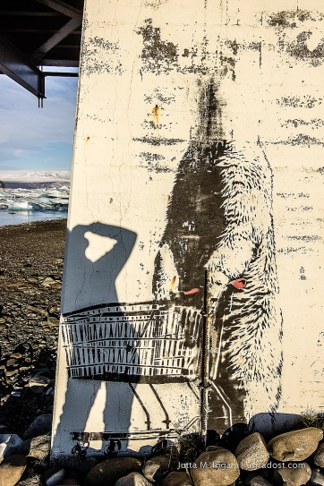 Eisbär-Graffiti