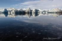 Eisschollen auf der Lagune