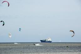Konkurrenten auf dem Wasser bei Laboe