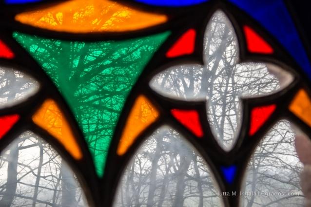 Buntglasfenster im Hessenstein