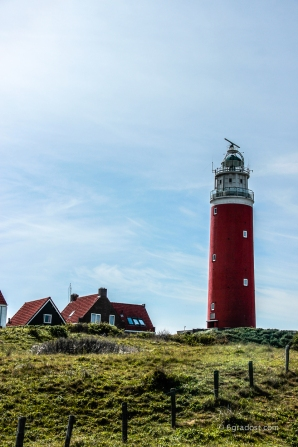Wahrzeichen der Insel: Leuchtturm von De Cocksdorp