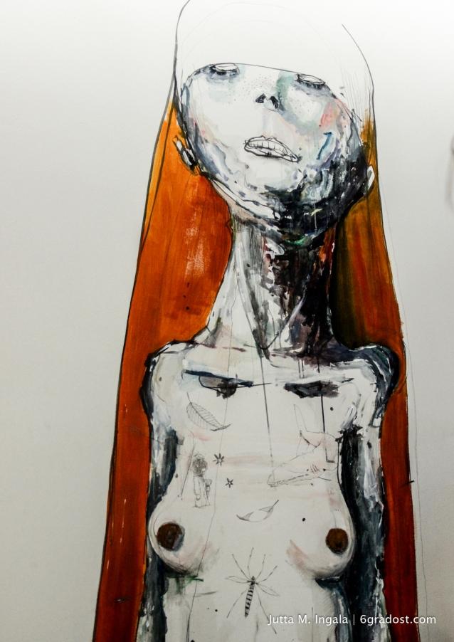 Facial demons... Mural von Dave de Leeuw