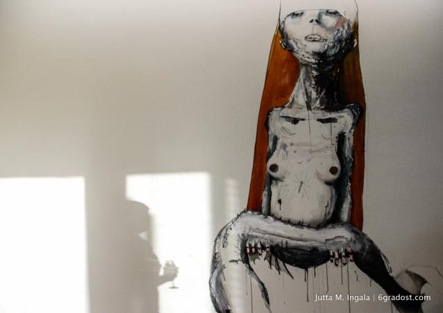 Mural von Dave de Leeuw mit Schatten II