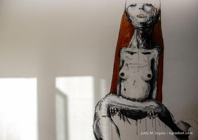 Mural von Dave de Leeuw mit Schatten I