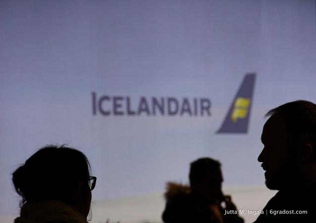 Check-in am Flughafen Keflavík