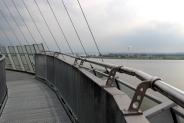 Aussichtsplattform: Architektur, die einem Segelschiff nachempfunden ist
