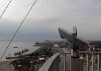 Panoramablick über Bremerhaven in 86 m Höhe