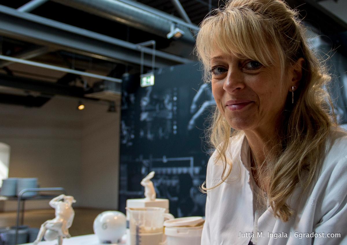 Annett Marburg teilt ihr Wissen gerne mit Besuchern