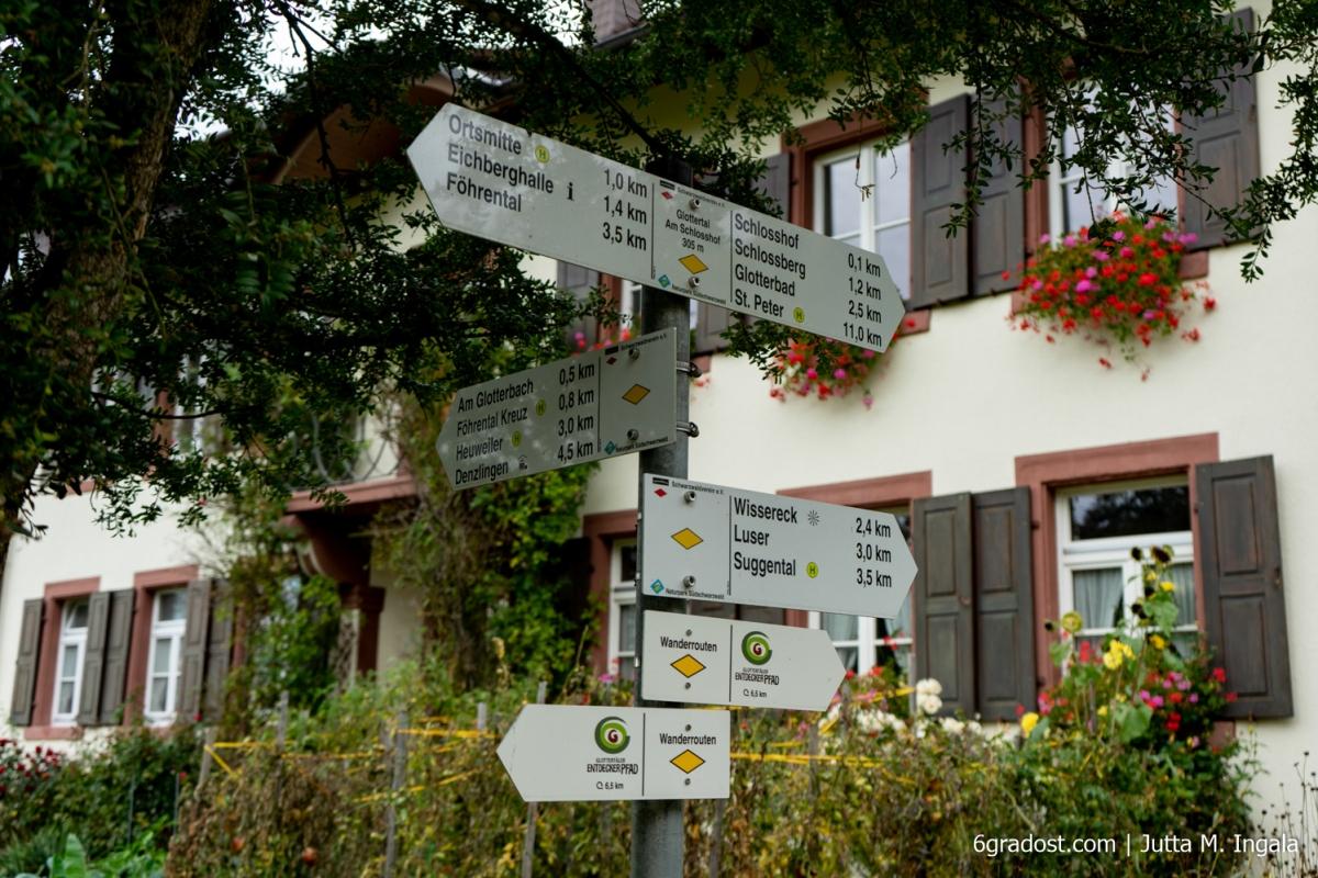 Wegkreuzung am Schlosshof