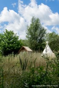 Tipis und Tiny Houses auf der wilden Wiese